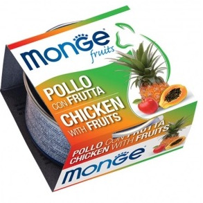 MONGE FRUIT POLLO E FRUIT 80GR