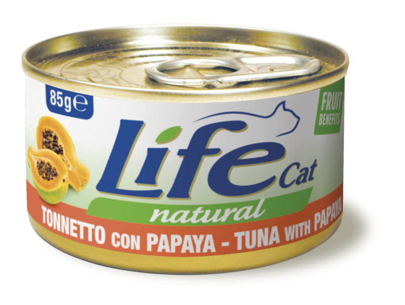 LIFE CAT TONNO CON PAPAYA 85 GR