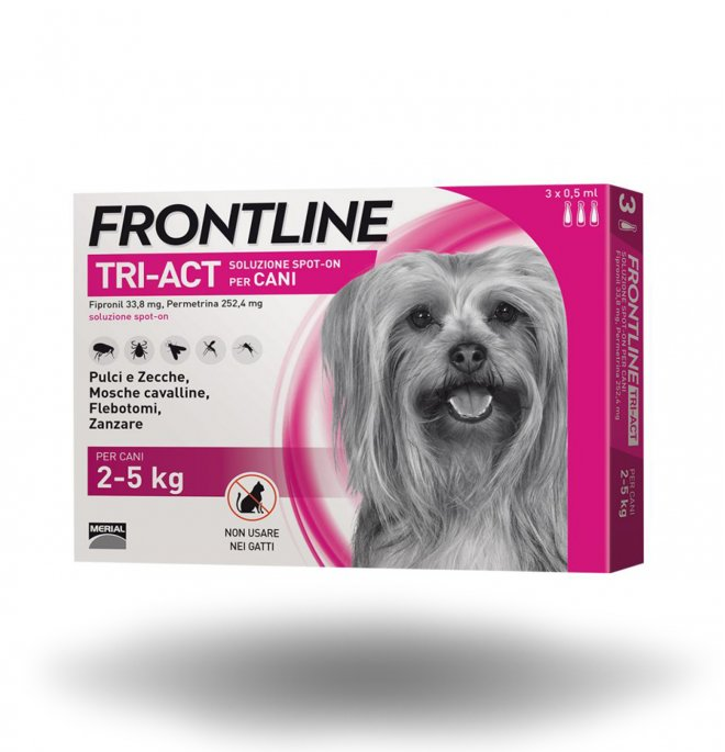 FRONTLINE TRIACT 2-5 KG  3 PIPETTE