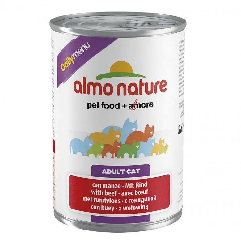 ALMO NATURE DAILY MENU CATS 400 G CON MANZO