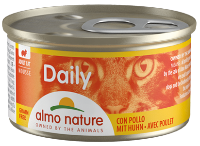ALMO NATURE DAILY MENU CATS 85 G MOUSSE CON POLLO