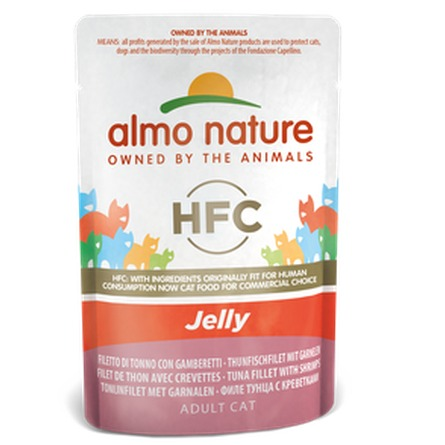 ALMO NATURE HFC JELLY CATS 55GR TONNO E GAMB