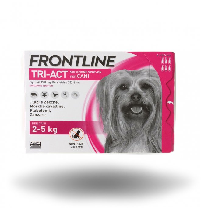 FRONTLINE TRIACT 2-5 KG 6 PIPETTE