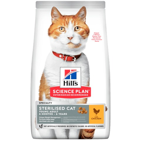 HILL S GATTO STERILISED MEDIUM POLLO