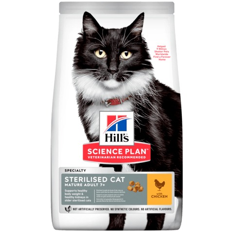 HILL S GATTO MATURE ADULT STERILISED POLLO