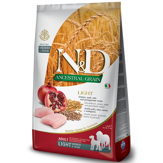 FARMINA NED ANCESTRAL GRAIN LIGHT M/M POLLO E MELOGRANO