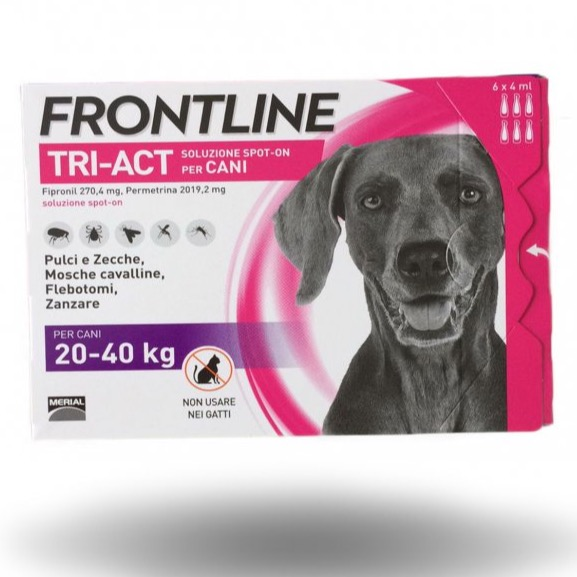 FRONTLINE TRIACT 20-40 KG 6 PIPETTE