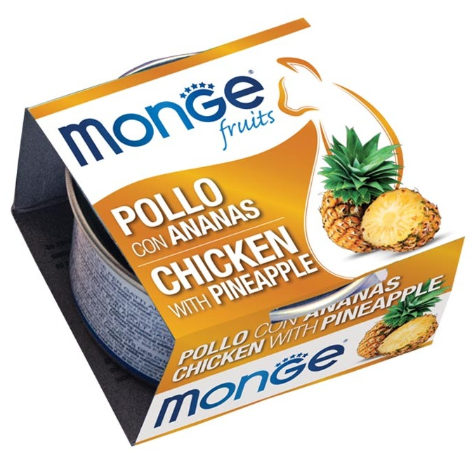 monge fruits pollo con ananas 80 g