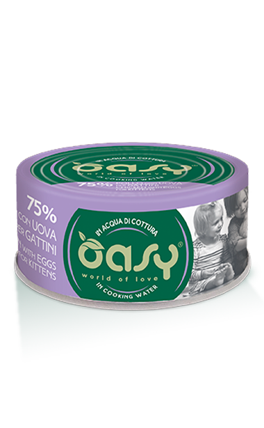 OASY MORE LOVE-  POLLO E UOVA PER GATTINI  70 GR