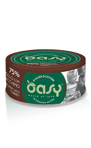 OASY MORE LOVE POLLO CON TACCHINO 70 GR