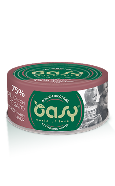 OASY MORE LOVE  POLLO CON FEGATO 70 GR