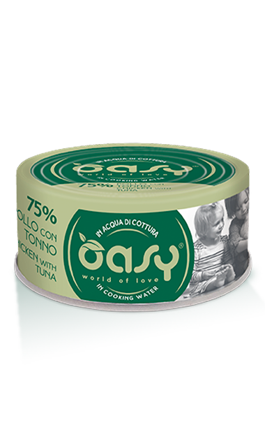 OASY MORE LOVE POLLO CON TONNO 70 GR