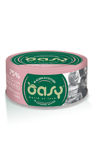 OASY MORE LOVE  POLLO CON PROSCIUTTO 70 GR