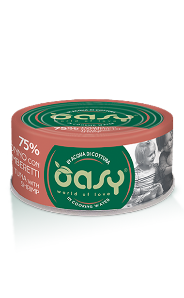 OASY WET CAT MORE LOVE-  TONNO CON GAMBERETTI 70 GR