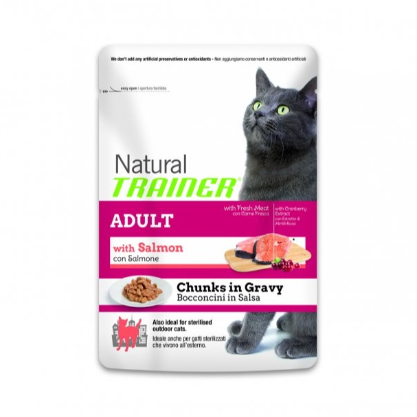 TRAINER NATURAL CAT SALMON BUSTA 85GR