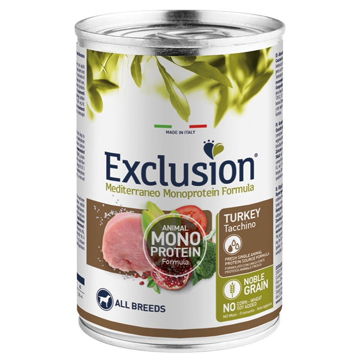 EXCLUSION ADULT TURKEY ALL BREEDS 400 GR.