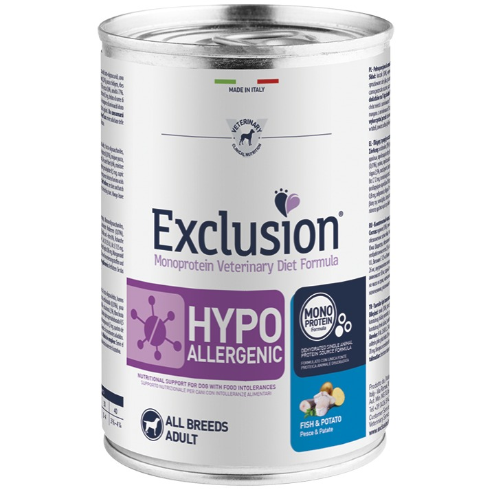 EXCLUSION HYPOALLERGENIC FISH AND POTATO 400 GR