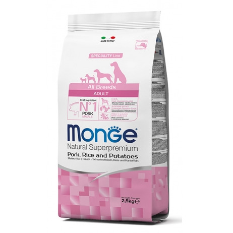 MONGE ALL BREEDS ADULT MAIALE RISO E PATATE 2,5KG