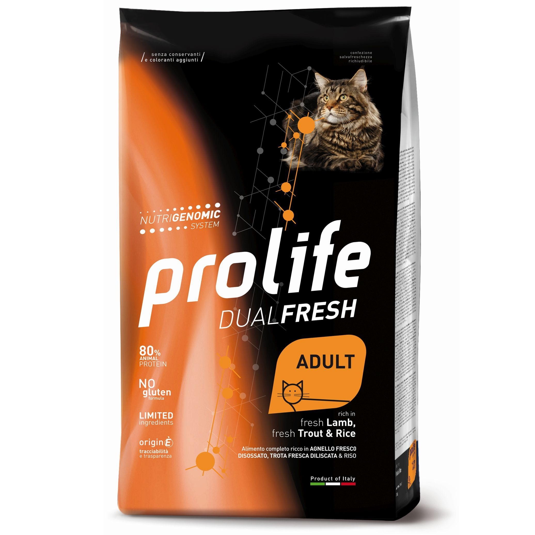PROLIFE GATTO DUAL FRESH AGNELLO TROTA E RISO