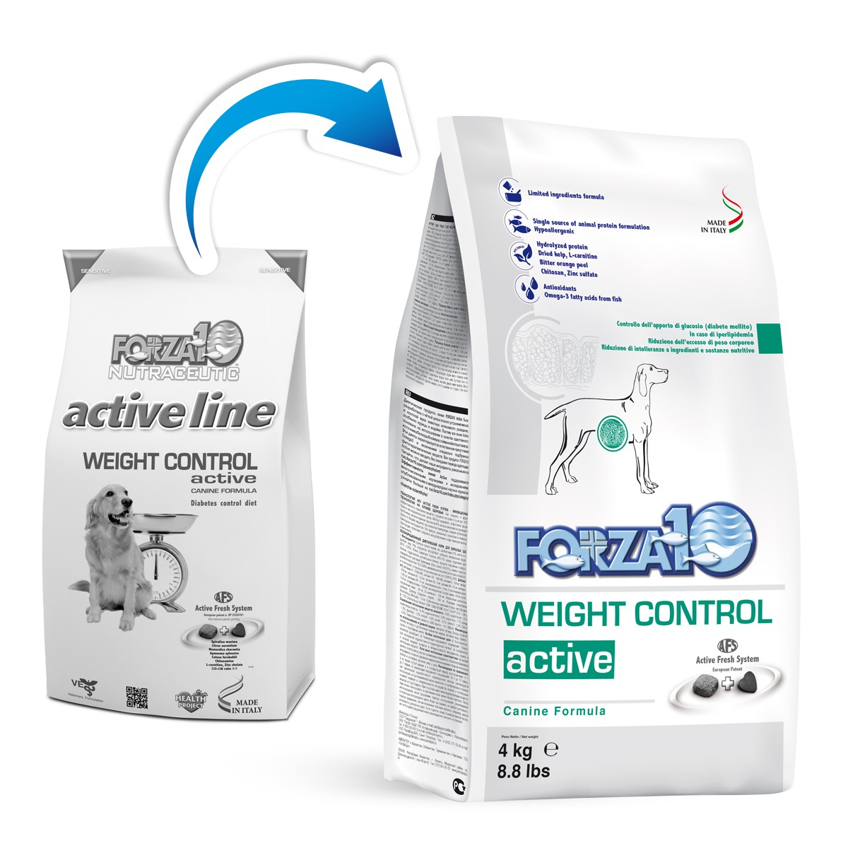 FORZA 10 CANE WEIGHT CONTROL ACTIVE 4KG