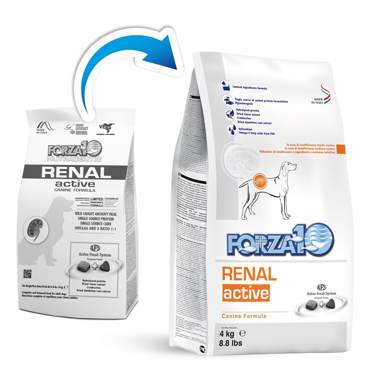 FORZA 10 CANE ACTIVE RENAL 4 KG