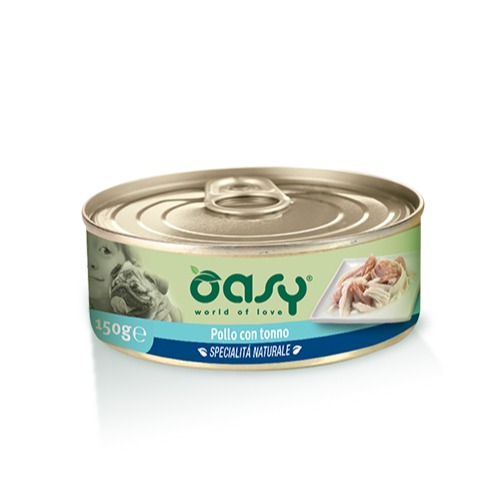Oasy Wet Dog   POLLO CON TONNO Lattina 150 gr