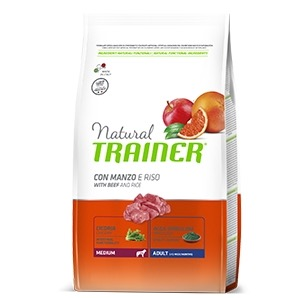 TRAINER DOG MEDIUM ADULT MANZO E RISO 3 KG