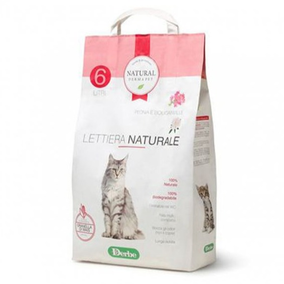 NATURAL DERMA PET LETTIERA PEONIA E BOUNGANVILLE  6 LT
