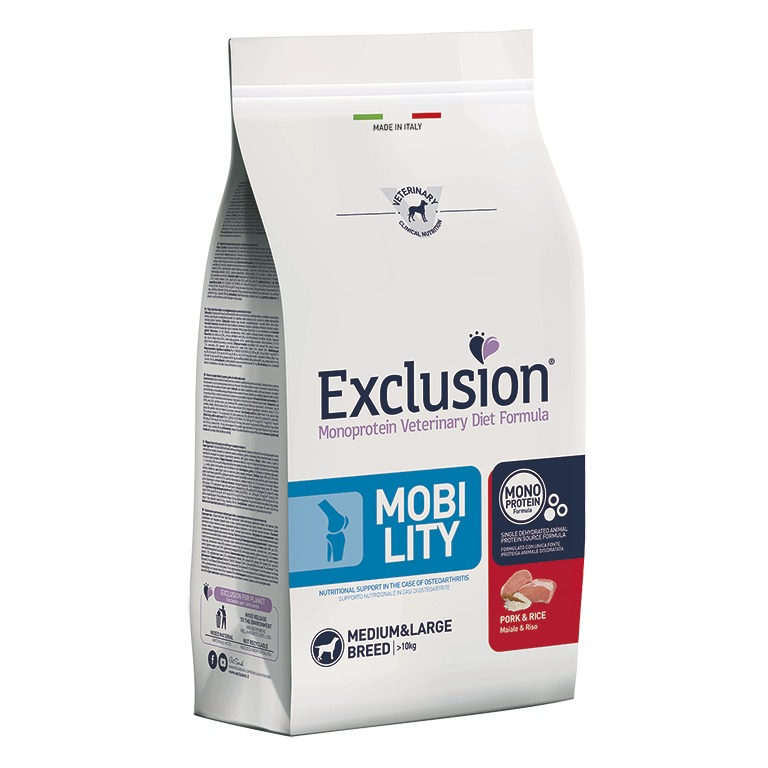 EXCLUSION MOBILITY PORK AND RICE MEDIUM/LARGE BREED 12KG