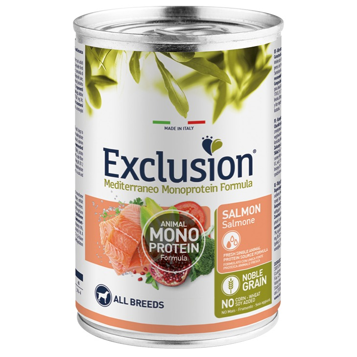 EXCLUSION ADULT SALMON ALL BREEDS 400 GR.